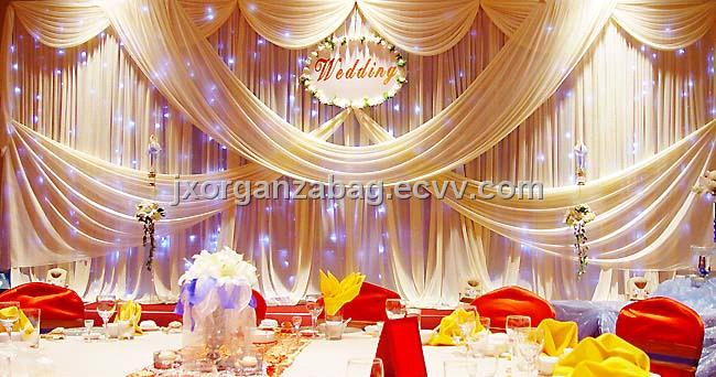 Tulle For Wedding Decorations On With Decoration Ideas Long Table And Small Chairs Also