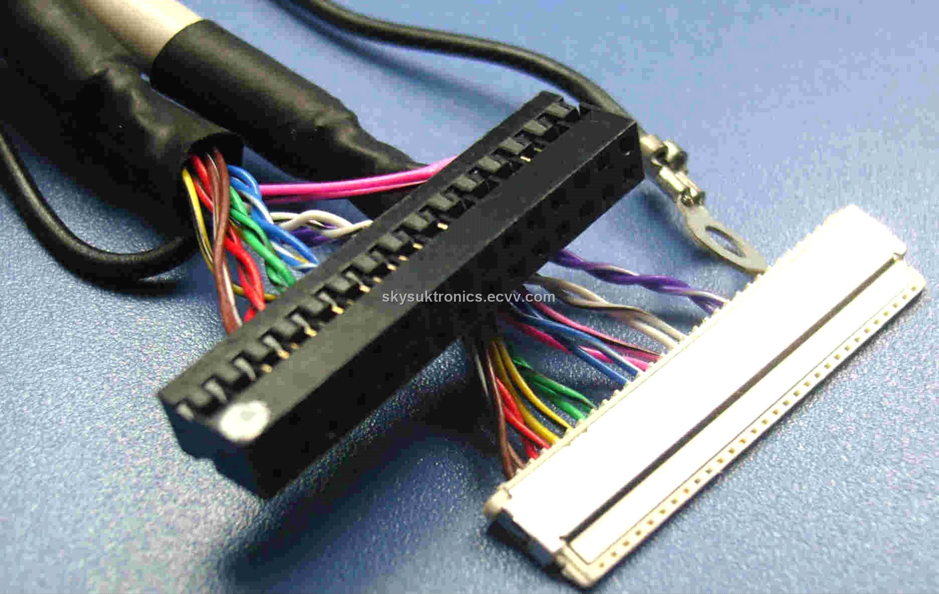 hight resolution of dupont 2 54 2x15p to jae fi x30h 30p lcd lvds signal wire harness