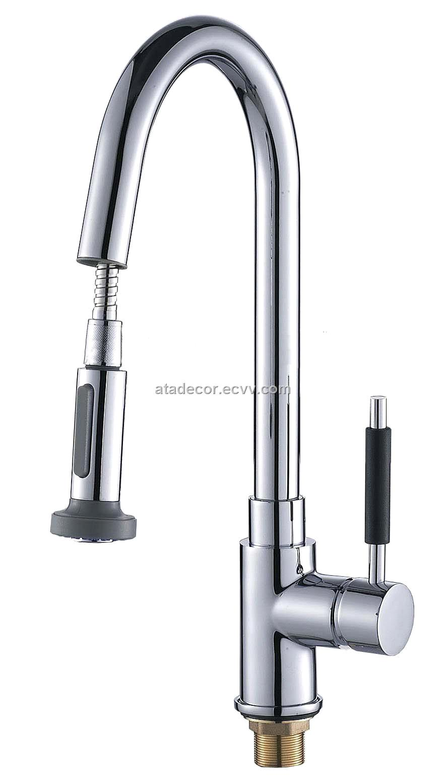 single lever pull out spray kitchen
