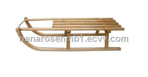 wood snow sled