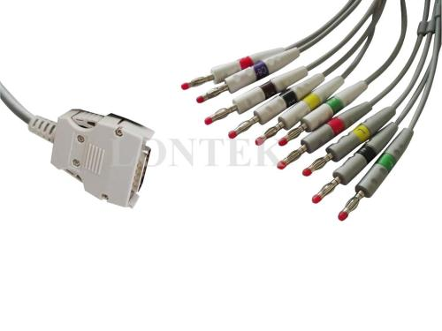 small resolution of mortara ekg cable one piece type iec color code