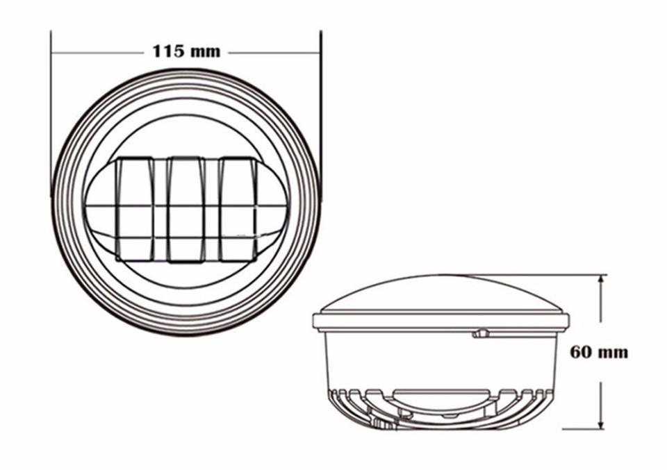 2pcs 4.5 inch 30w Chrome LED Auxiliary Fog Passing Light 4