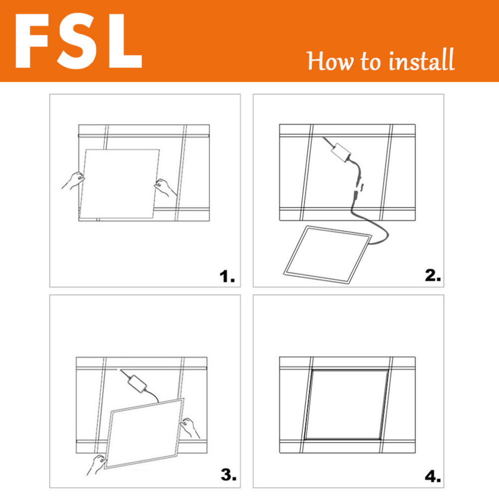 medium resolution of fsl 12w 18w 24w aluminum square led ceiling panel light ac 220v ultra thin sealed structure damp proof rust proof 30 30 30 60cm purchasing souring agent