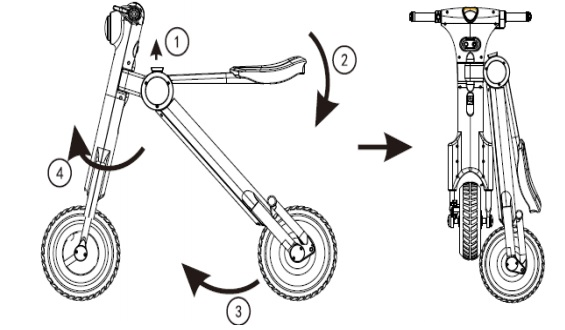 Pit bike / Electric Folding Motorcycle ET-Scooter
