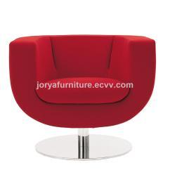 Revolving Easy Chair Side End Tables Rotating Sofa Swivel Stainless Steel Leg