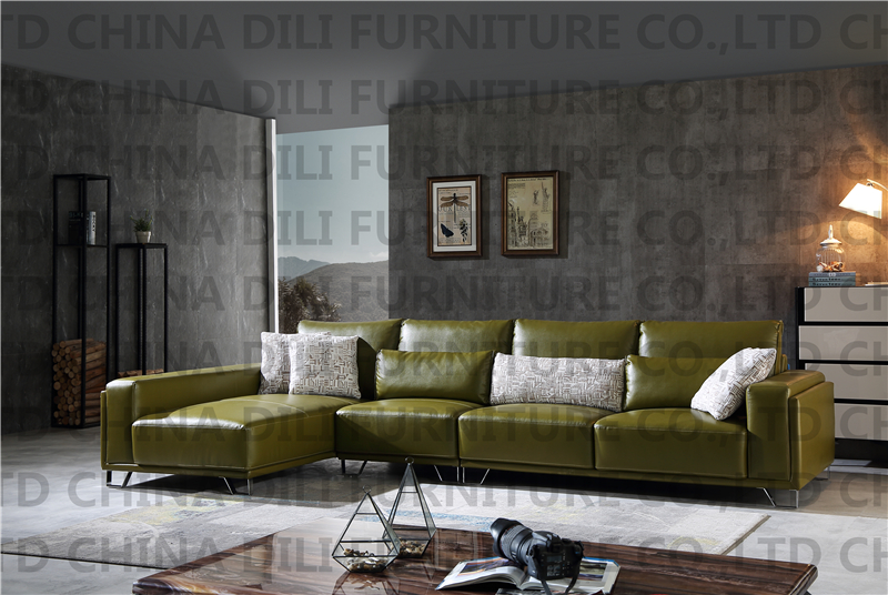 modern living room real leather sofa l