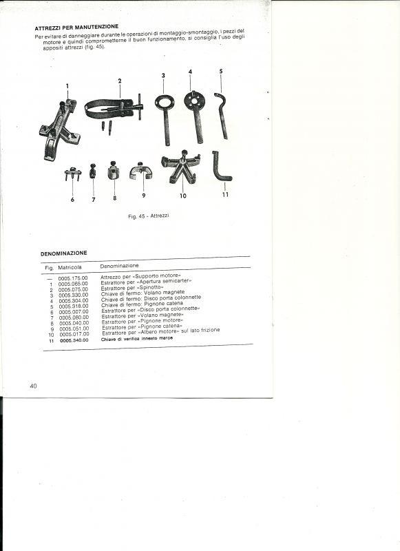 Manuale d'officina Caballero 50 parte seconda
