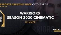 "Esports Awards 2020: Riot Games giành giải với Cinematic ""Warriors"""