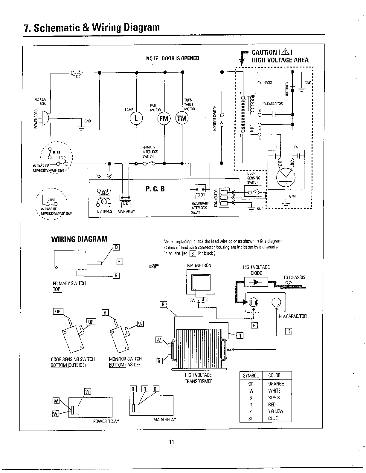 ge oven schematic diagram 220 house wiring لدى ميكرويف ماركة كينوود الحرارة لا تعمل - منتدى القرية الإلكترونية