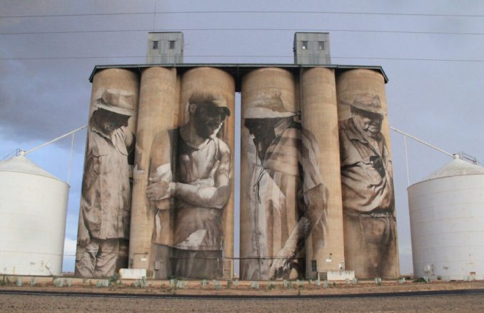 Guido van Helten silo art