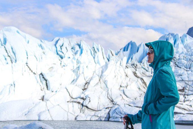Woman At A Glacier in Alaska