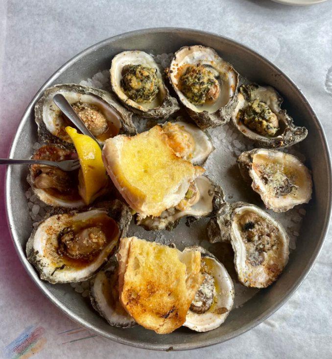 Half Shell Oyster platter
