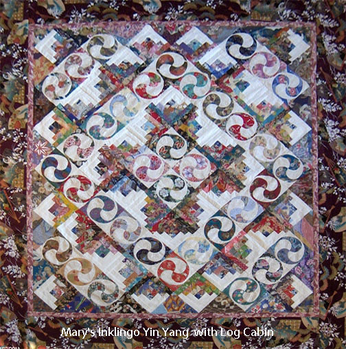 Curved Log Cabin Quilt Layouts