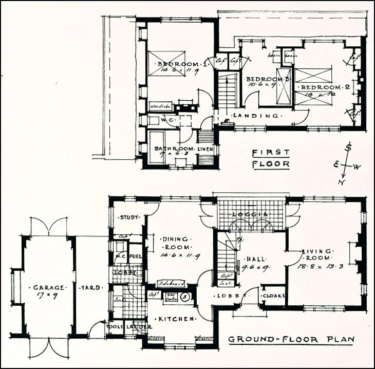 1940 House Styles 1930s House Floor Plans, 1930s house