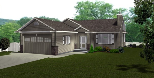 Craftsman Style Architecture L Shaped