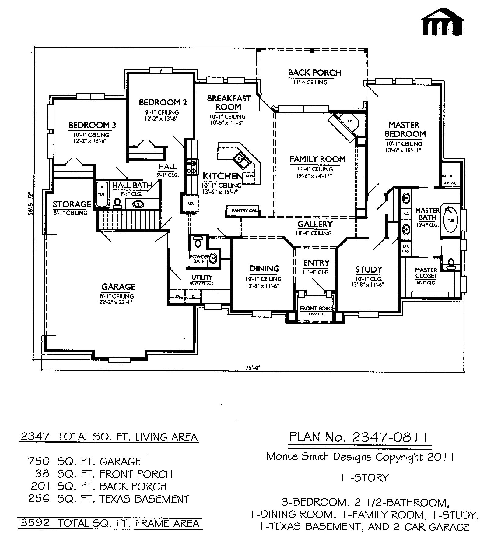 Split Bedroom 2 Story 3 Bedroom House Plans, 1 bedroom 1