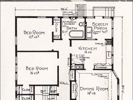 1920 Craftsman Bungalow Floor Plans 1918 Craftsman