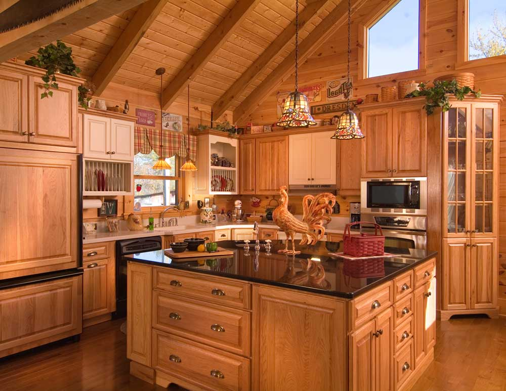 Log Cabin Kitchen Design Ideas Log Cabin Kitchens with