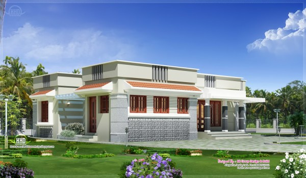 Flat Roof Single Story House Plans