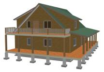 600 Sq FT Cabin Plans with Loft