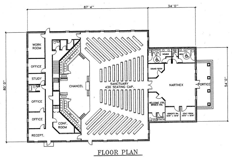 Church Building Floor Plan Design Church Building Designs