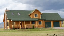 Log Home Floor Plans with Garage