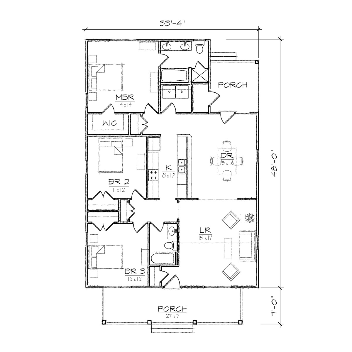 Small Bungalow Floor Plans Cottage Floor Plans Bungalow