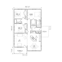 Small Bungalow Floor Plans Micro Cottage Floor Plans, two ...