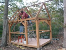 Small Post And Beam Cabins Timber Frame Cabin Plans