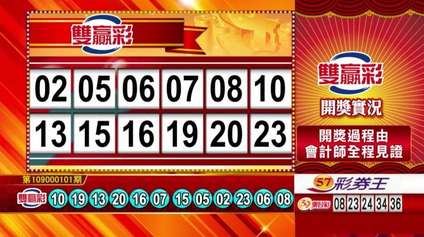 雙贏彩中獎號碼》第109000101期 民國109年4月27日 《#雙贏彩 #樂透彩開獎號碼》