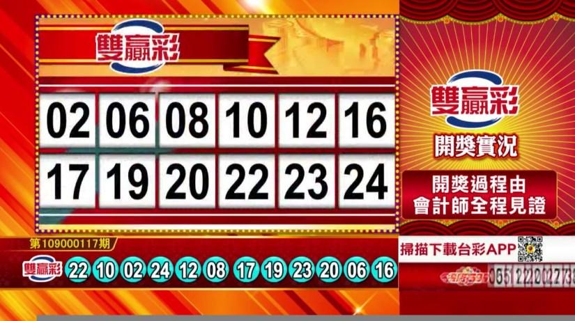雙贏彩中獎號碼》第109000117期 民國109年5月15日 《#雙贏彩 #樂透彩開獎號碼》