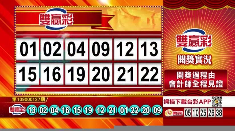 雙贏彩中獎號碼》第109000127期 民國109年5月27日 《#雙贏彩 #樂透彩開獎號碼》