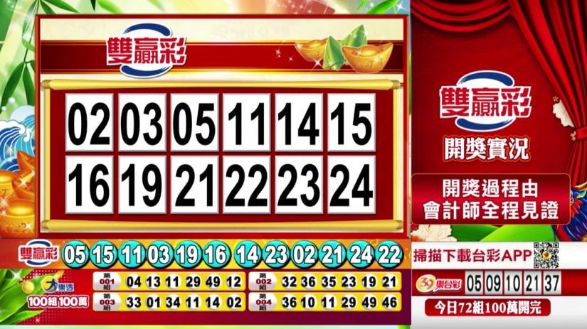 雙贏彩中獎號碼》第109000147期 民國109年6月19日 《#雙贏彩 #樂透彩開獎號碼》