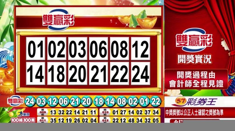 雙贏彩中獎號碼》第109000162期 民國109年7月7日 《#雙贏彩 #樂透彩開獎號碼》