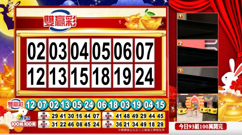 雙贏彩中獎號碼》第109000225期 民國109年9月18日 《#雙贏彩 #樂透彩開獎號碼》