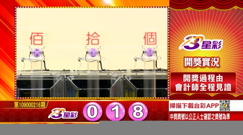 3星彩中獎號碼》第109000216期 民國109年9月8日 《#3星彩 #樂透彩開獎號碼》