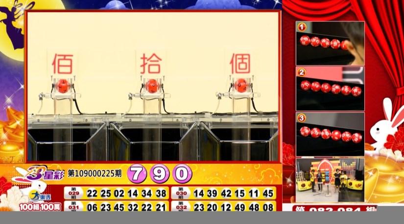 3星彩開獎號碼》第109000225期 民國109年9月18日 《#3星彩 #樂透彩中獎號碼》