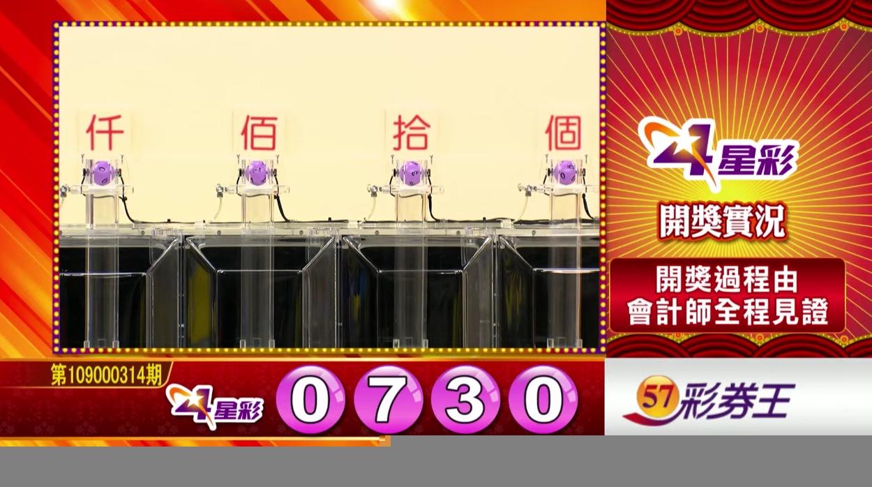 💰4星彩中獎號碼💰第109000314期 民國109年12月31日 《#4星彩 #樂透彩開獎號碼》
