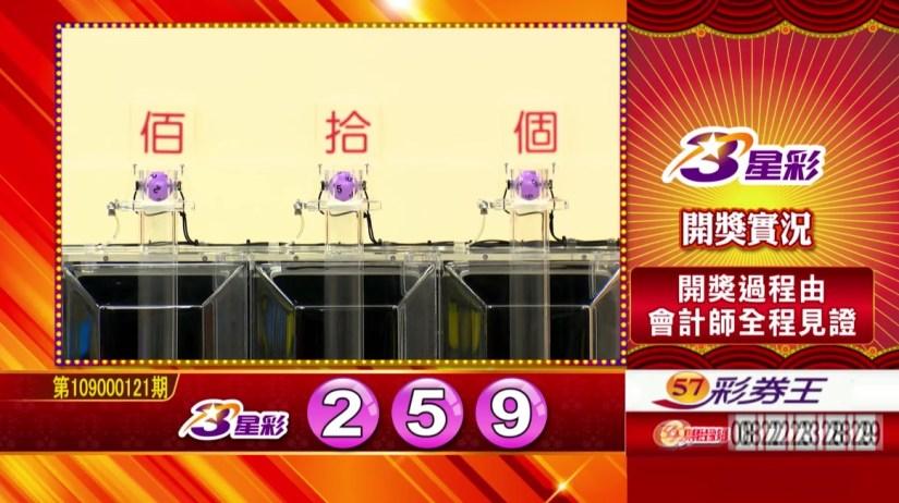 3星彩中獎號碼》第109000121期 民國109年5月20日 《#3星彩 #樂透彩開獎號碼》