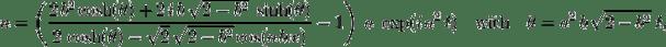 u = \left( \frac{2\, b^2 \cosh(\theta) + 2\, i\, b\, \sqrt{2-b^2}\; \sinh(\theta)} {2\, \cosh(\theta)-\sqrt{2}\,\sqrt{2-b^2} \cos(a\, b\, x)} - 1 \right)\; a\; \exp(i\, a^2\, t) \quad\text{with}\quad \theta=a^2\,b\,\sqrt{2-b^2}\;t,