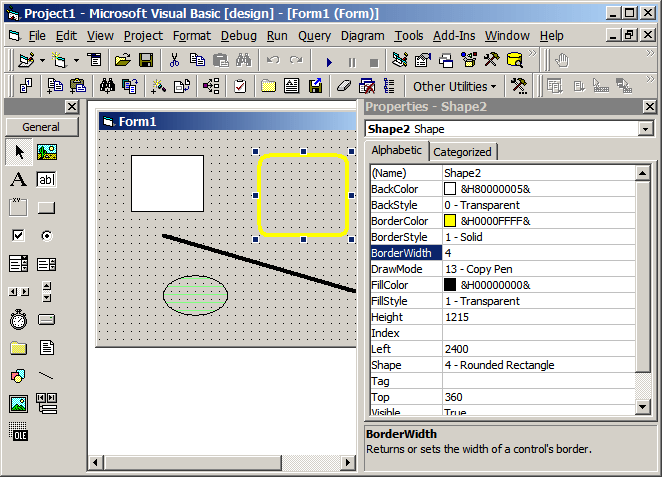 Visual Basic Simple Graphics