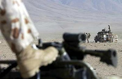 Australian Special Forces Task Group soldiers during a training activity in Afghanistan, 2003