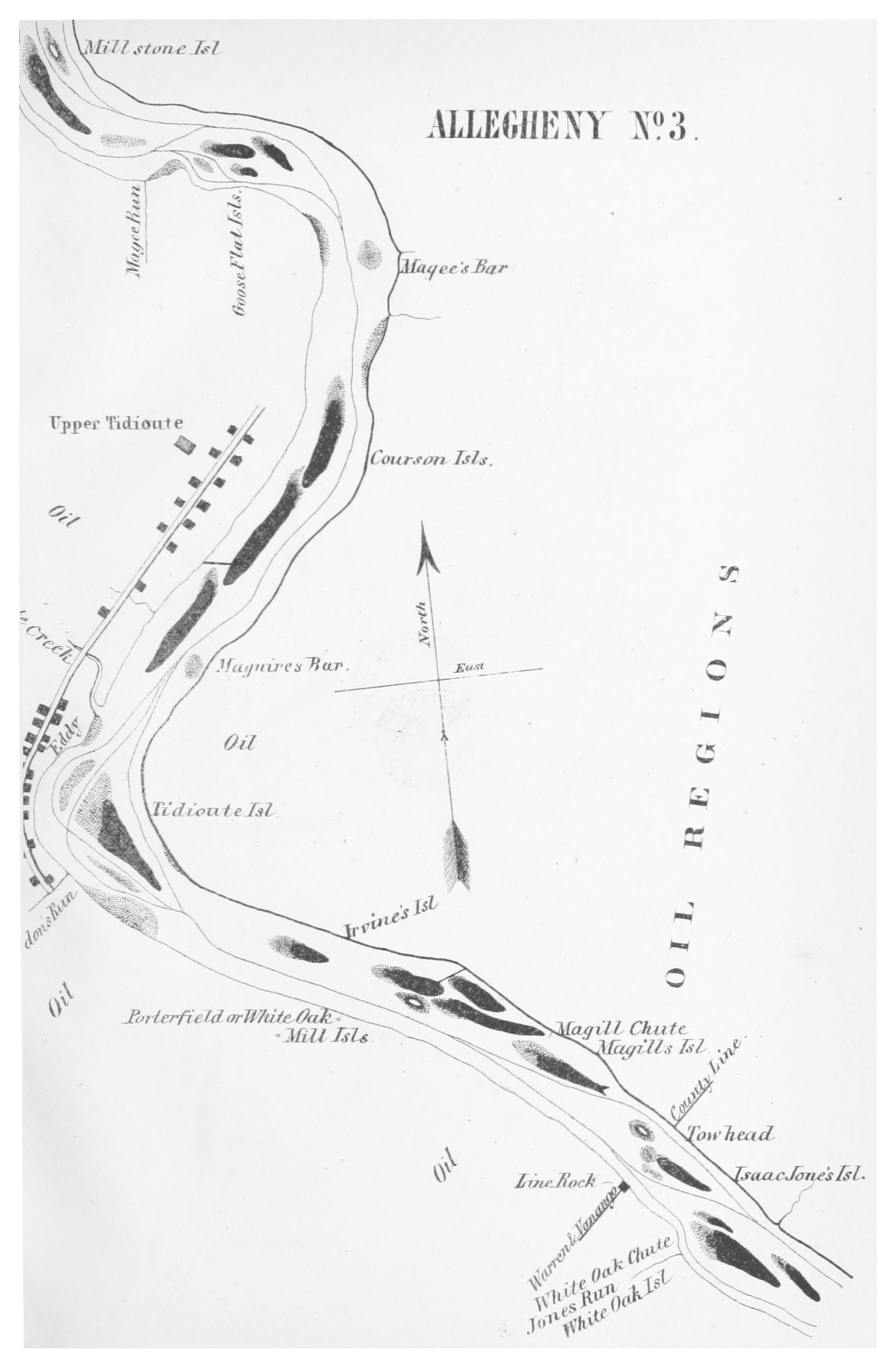 File:GILLELEN(1864) p049 Oil Creek, Allegheny River, Map 3