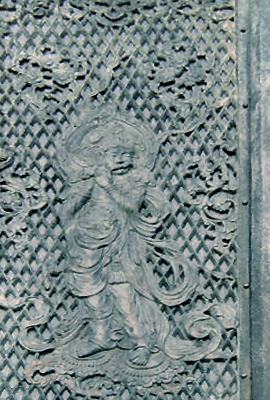 English: Krishna in Todaji temple. Relief.