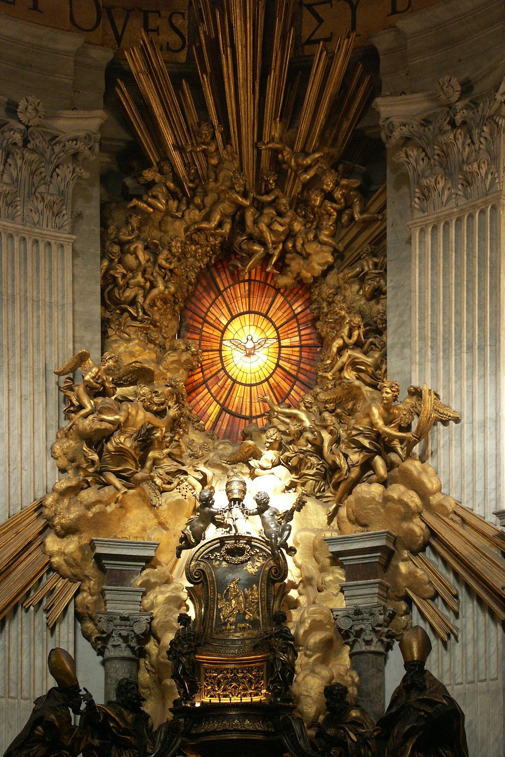 FileRom Vatikan Petersdom Cathedra Petri Bernini 2