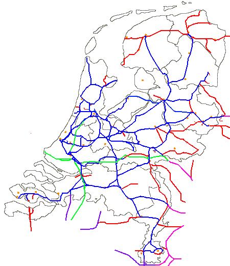 Eisenbahnkarte Deutschlands 1945