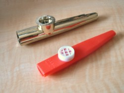 A photo I have taken of 2 kazoos for the Kazoo...