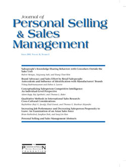 English: Journal of Personal Selling & Sales M...