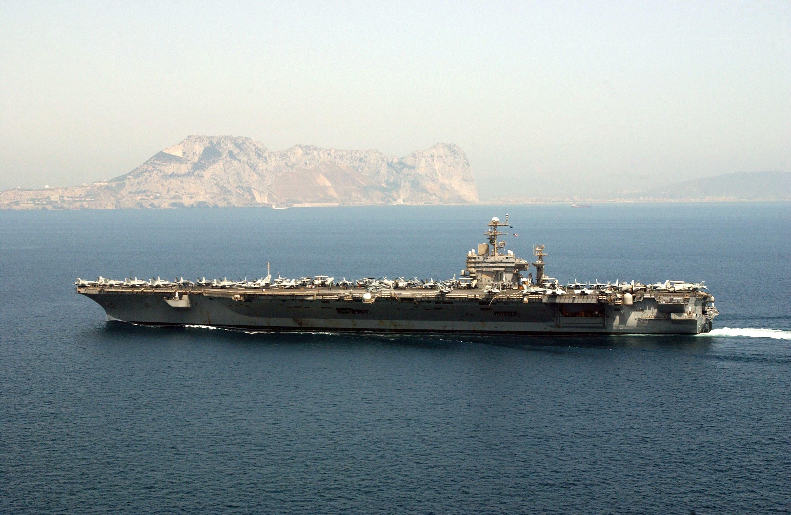 USS Carl Vinson off Gibraltar Naval ships old and new
