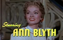 Cropped screenshot of Ann Blyth from the trail...